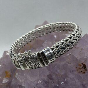 Bali Silver Mens Chain Bracelet